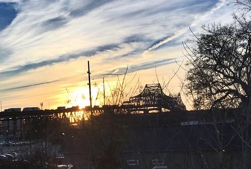 bridge sunset mississippi air iphone 6s