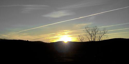 sky sun silhouette clouds sunrise contrails selectivecolor iphone6