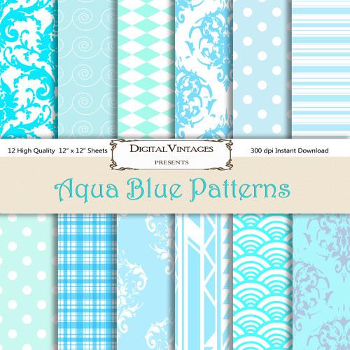 Blue Digital Paper Aqua Baby Blue Pattern Digital Pape Flickr