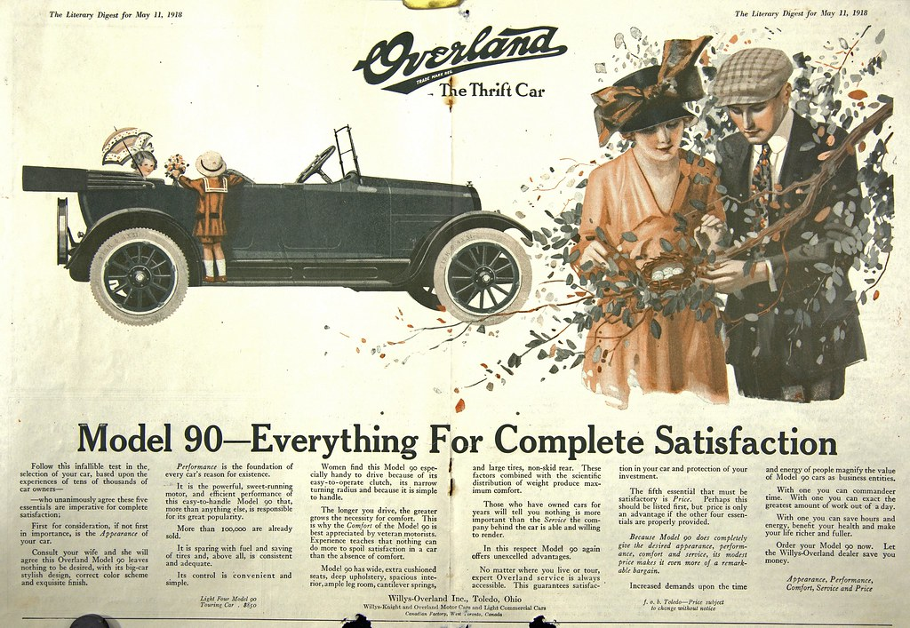 Overland car ad | Model 90 - the thrift car  From
