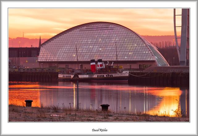 PS Waverley in January Sunrise