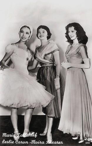 Leslie Caron, Moira Shearer and Maria Tallchief