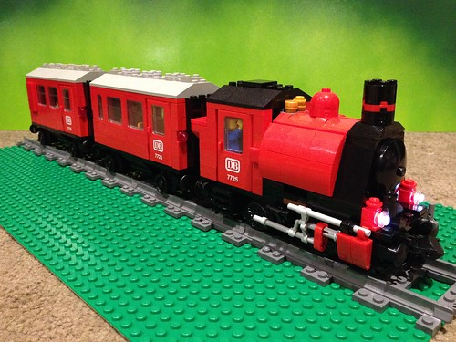 Lego Power Functions 0-4-0 saddle tank steam locomotive in red | by CanvasRails