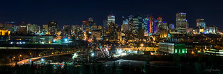 Edmonton At Night - Building Up and Over | by WherezJeff