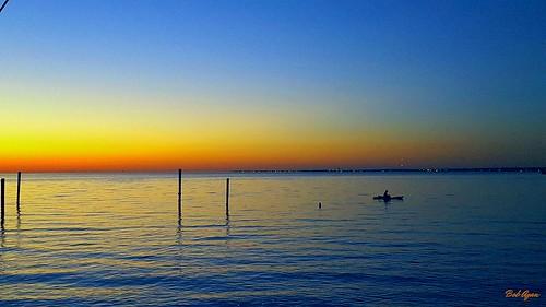 sunrise fishing kayak