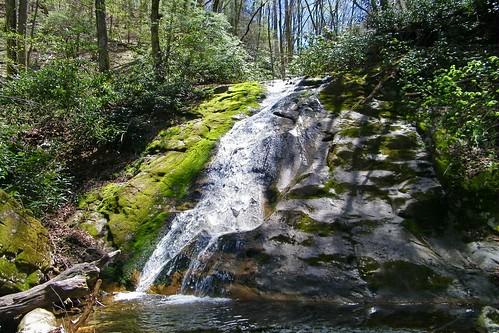 mountain rock creek waterfall tennessee cherokee wilderness erwin unicoi unaka