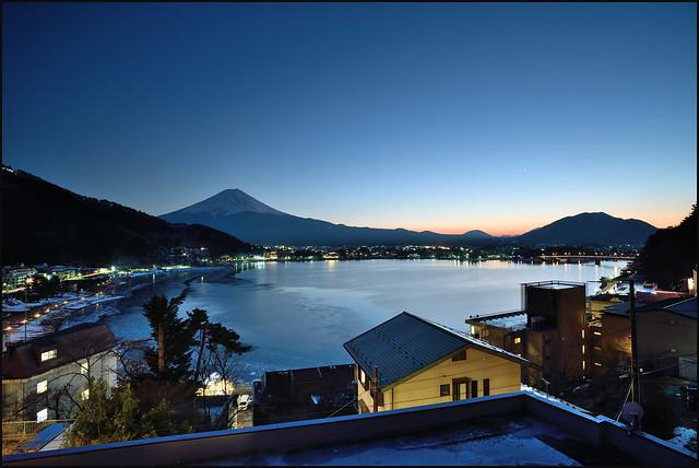 Lake Kawaguchiko and Mt. Fuji Sunset