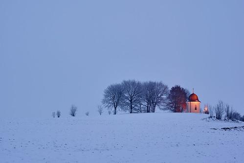 longexposure schnee trees snow tree landscape bayern bavaria outdoor naturallight chapel landschaft baum kapelle langzeitbelichtung minoltamd50mmf20 sonynex7