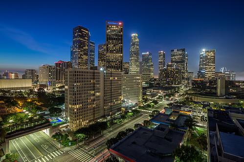 skyline sunrise canon cityscape bluehour dtla downtownskyline downtownlosangeles 1635mm losangelessunrise 5dmkiii ©shabdrophoto