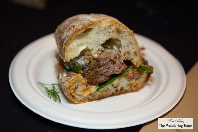 Boomwich's meatball sandwich
