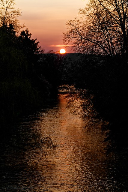 Sunset on Célé - Coucher de soleil sur le Célé