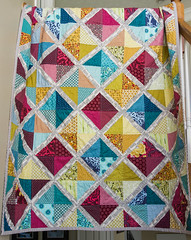Paper pieced diamond quilt