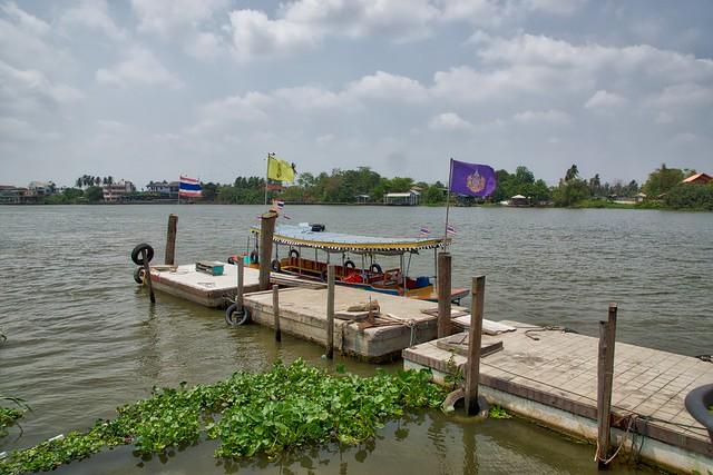 Pier on Ko Kret, an island in the Chao Phraya river near Bangkok, Thailand