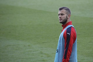 Jack Wilshere watches the goal replay | by Ronnie Macdonald