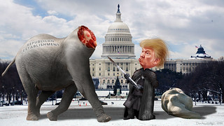 Lord Commander Trump Decapitates the Establishment Republicans | by DonkeyHotey