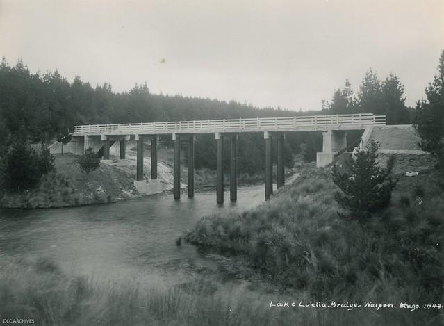 Lake Luella Bridge, Waipori 1948