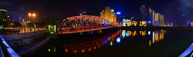 Shanghai - Garden Bridge Night Panorama