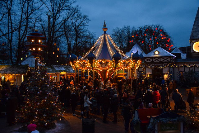 Christmas market at Tivoli, Copenhagen