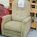 Armchair brown mix fabric