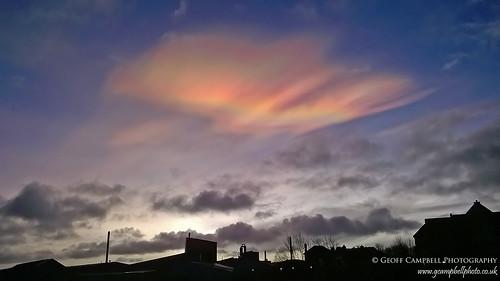 cloud nature sunrise dawn belfast northernireland nacreous polarstratosphericclouds motherofpearlcloud gcampbellphoto