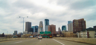 Downtown Minneapolis from I-394