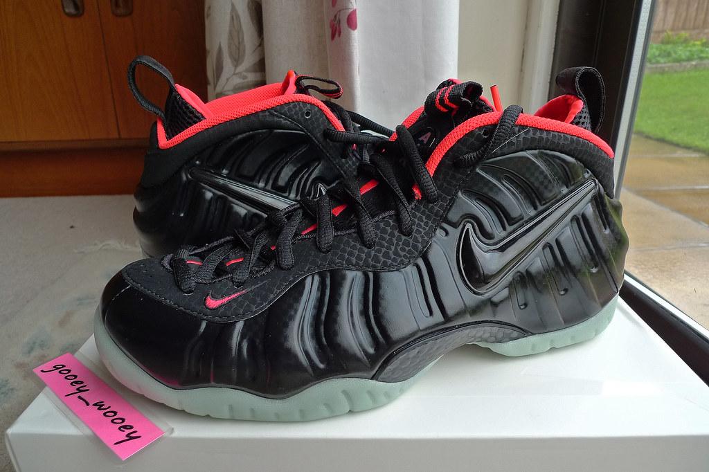1db727fa7 ... Nike Air Foamposite Pro Prm  Yeezy  Black   Black - Laser Crimson ( 616750