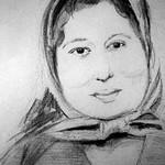 Meine Leni-Oma, die ich nicht gekannt habe, Bleistiftzeichnung
