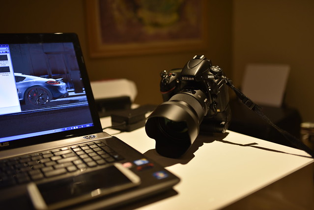 My workspace with Nikon D800e and Sigma 50mm Art F1.4