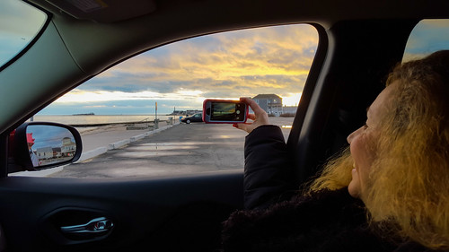 ocean sunset portrait sky people woman beach window girl car clouds geotagged unitedstates connecticut candid cellphone samsung hdr westbrook hww westbrooktownbeach windowwednesday samsunggalaxys6