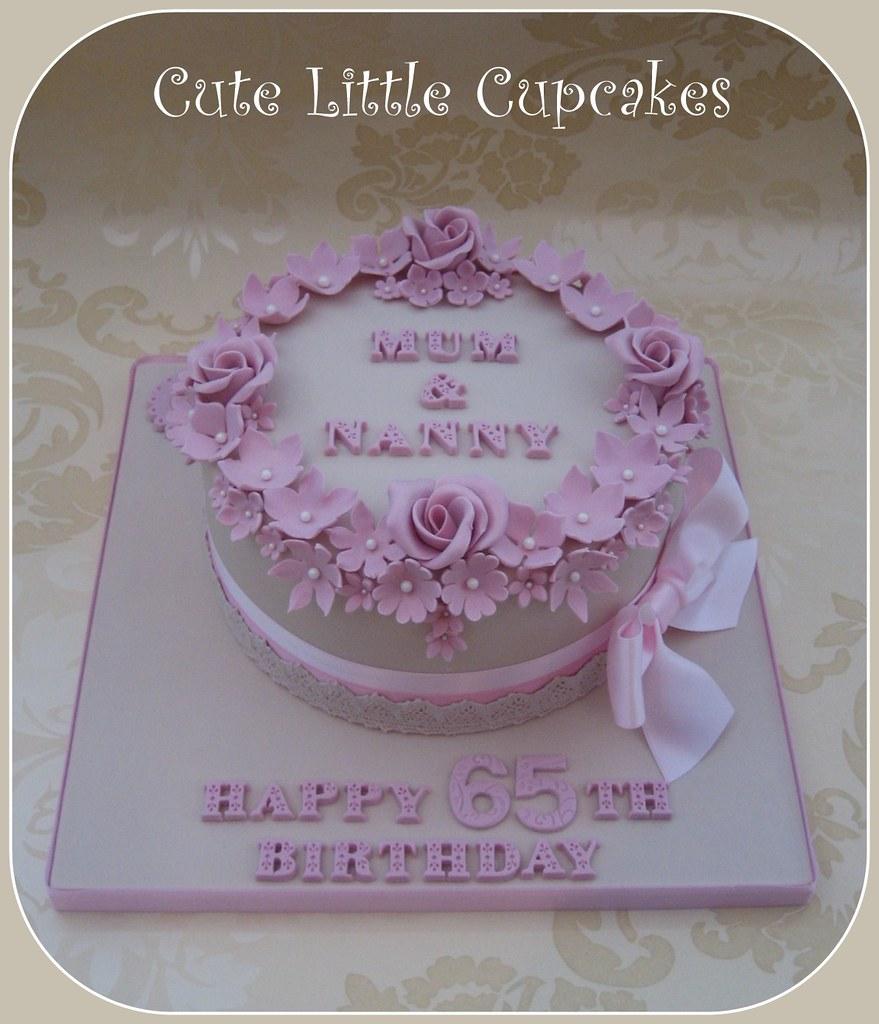 Magnificent Shabby Chic 65Th Birthday Cake A Photo On Flickriver Personalised Birthday Cards Vishlily Jamesorg