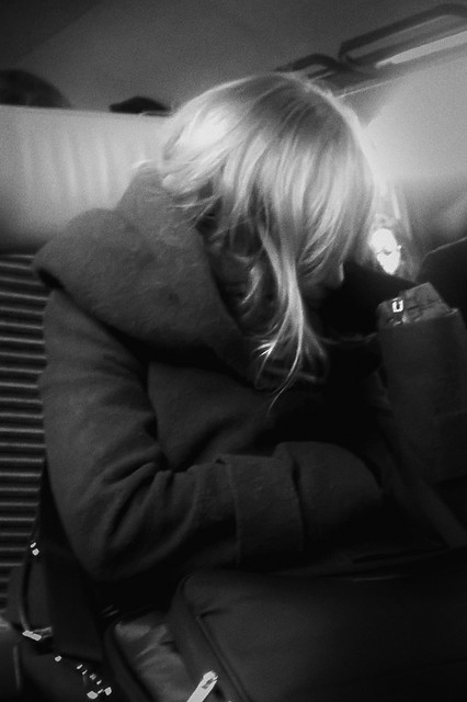 A girl in the train