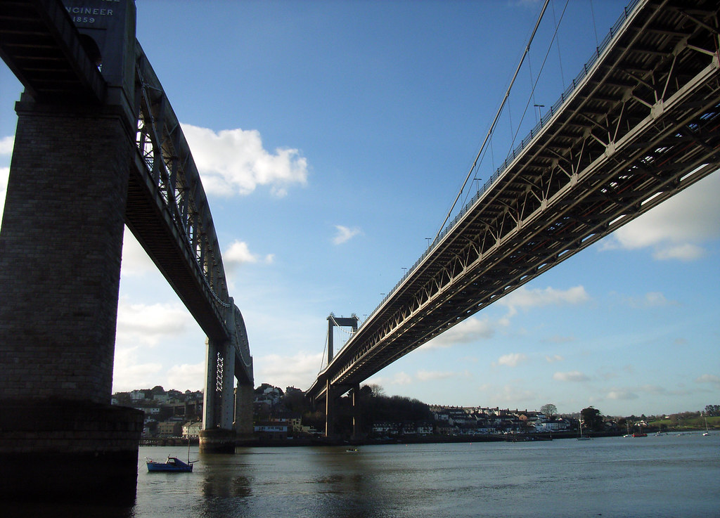 Tamar Bridges from Saltash Passage