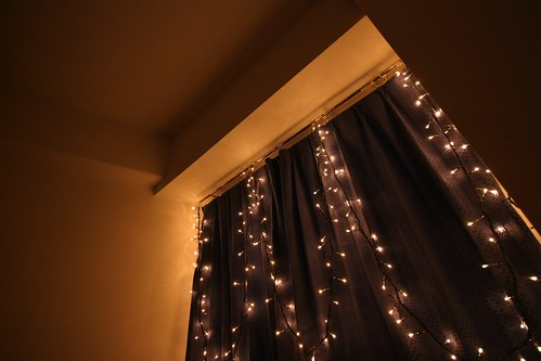 View of my bedroom window with fairy lights | by troykelly