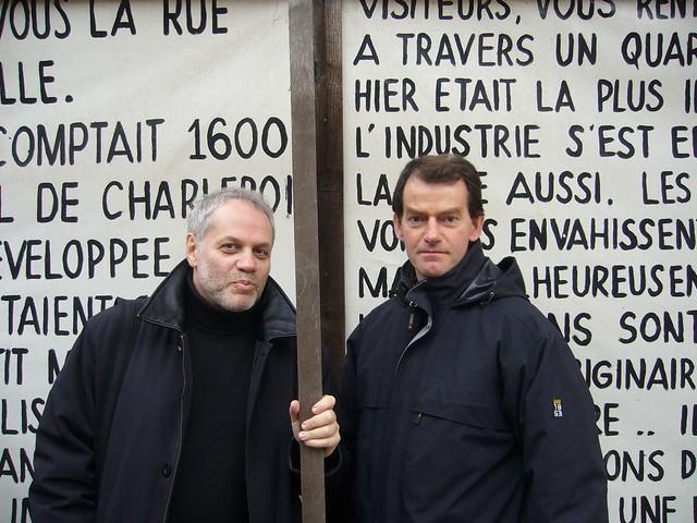 Jevgeni Boenimovitsj & Henri Jacobs in Oud-Molenbeek