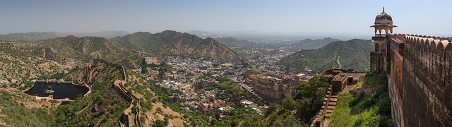 View of Amer fort from Jaigarh Fort, north of Jaipur