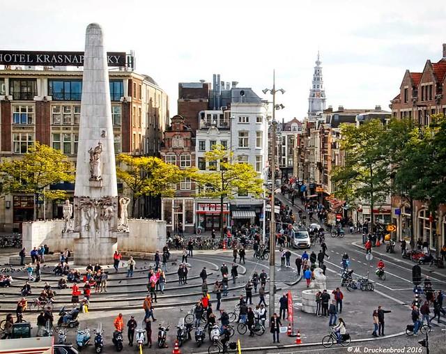 The Dam Square Obelisk, Amsterdam, The Netherlands