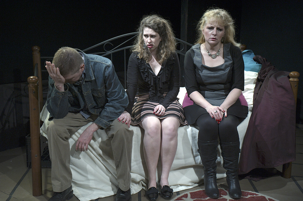 "<p>Mitch Irzinski as Luigi, Moriah Whiteman As Margherita AND Hanna Bondarewska as Antonia IN ""They Don't Pay? We Won't Pay!"" BY Dario Fo</p>"