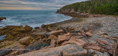 ocean seascape me water clouds landscape rocks maine barharbor acadianationalpark gitzotripod nikond800 richhaig nikonafsnikkor1424mm128ged