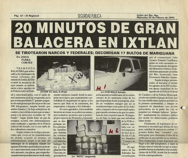20 Minutos de Gran Balacera en Ixtlán