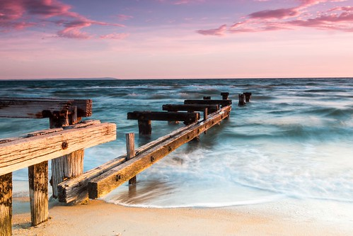 sunset beach water landscape bay coast pier seaside sand waterfront outdoor australia melbourne shore