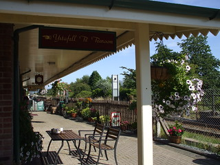 12 The Russell Tearoom on our platform at Porthmadog Station | by michchapman2003