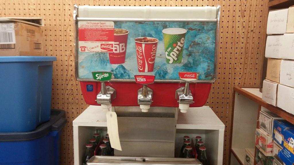 Coke dispenser | Soda dispenser featuring Sprite, Coca-Cola