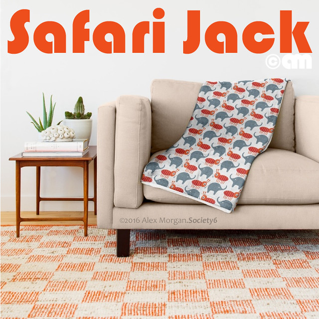 Safari Jack.throw blanket
