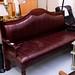 Wine wood framed bench