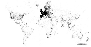 Worldwide georeferenced Flickr photos from Europeans (2007-2015). | by Sieboldianus