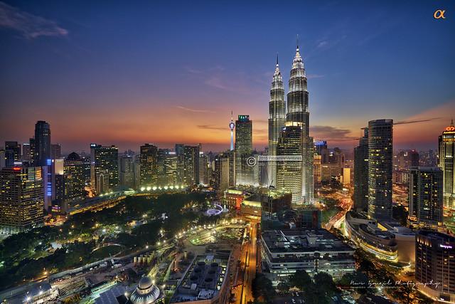 Brilliant Sunset in Kuala Lumpur