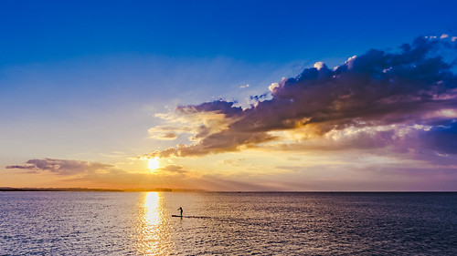 ocean morning blue sea sky seascape clouds sunrise sony enoshima sup morningbeach standuppaddle fe1635mmf4zaoss ilce7m2 greatmorningpaddling