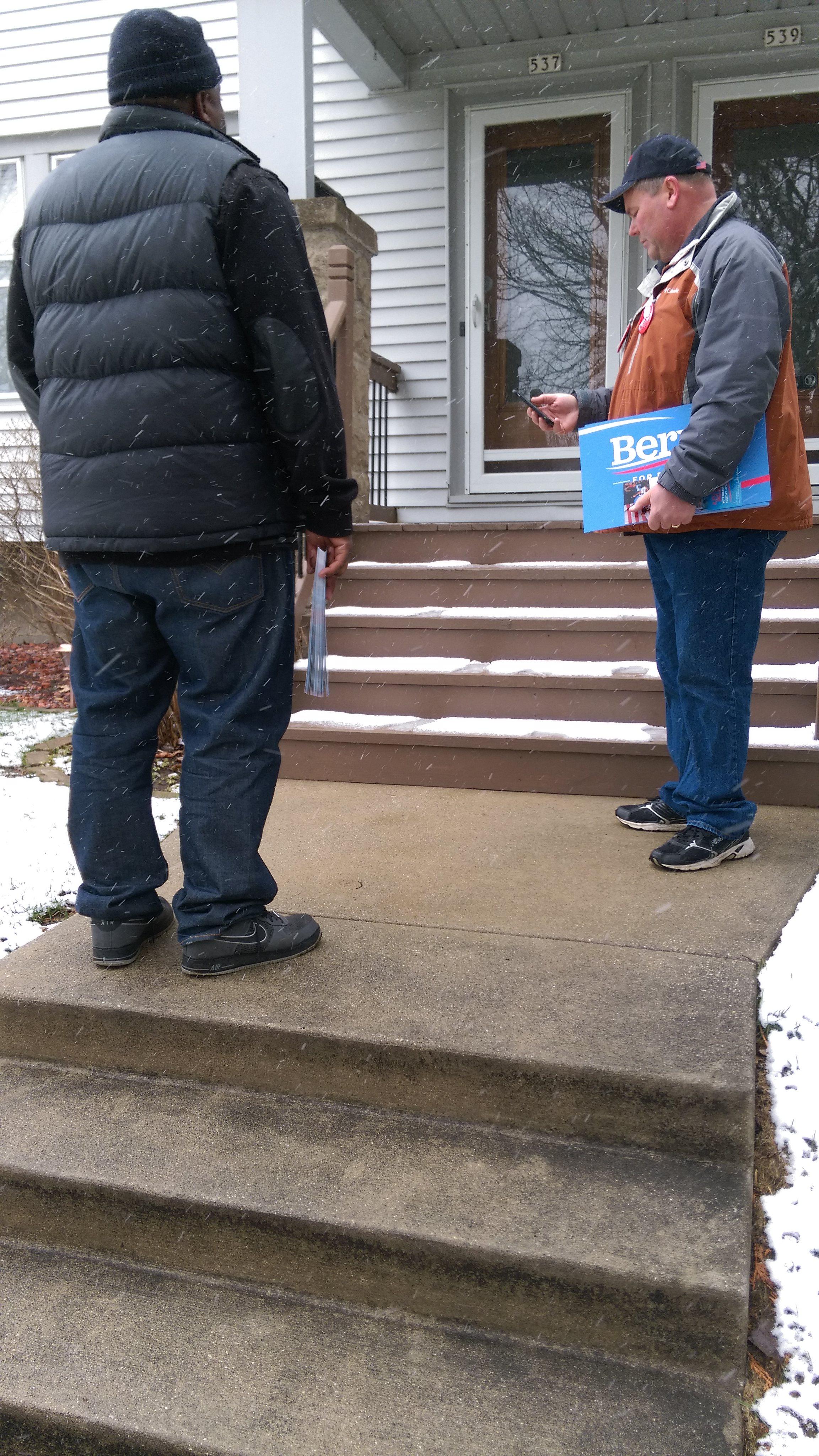 Door to Door in Wisconsin for Bernie