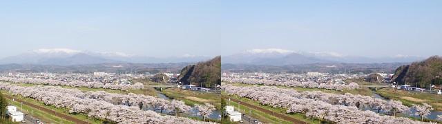 Hitome-Senbon-Zakura, 4K UHD, stereo cross view