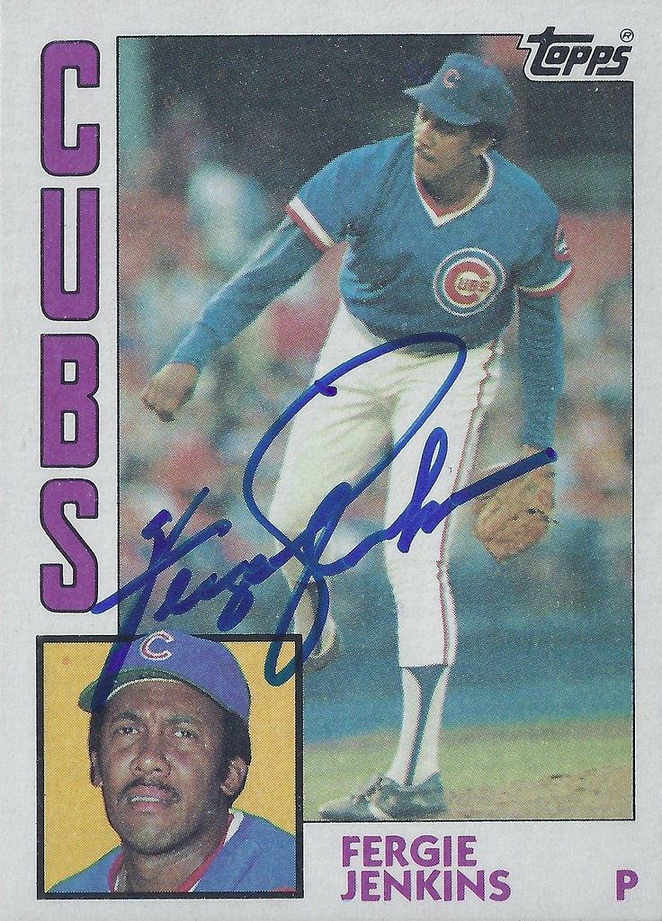 1984 Topps Ferguson Fergie Jenkins 483 Pitcher Hal